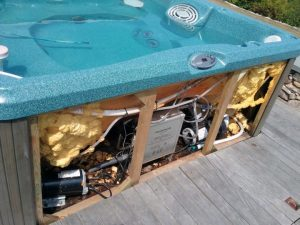 Find and fix a hot tub leak