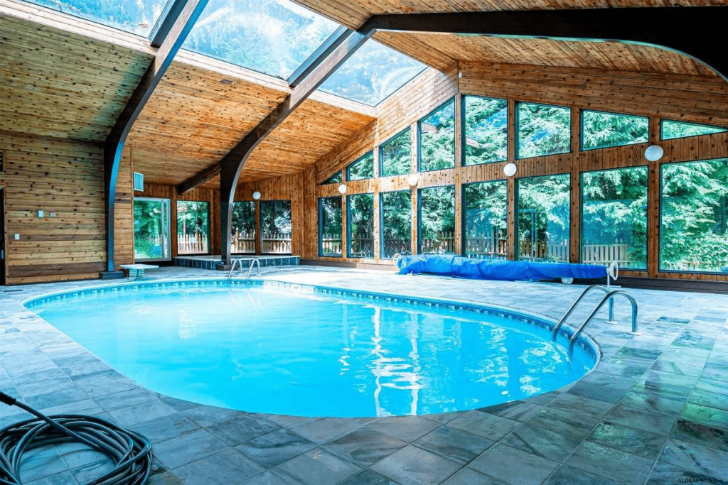 Indoor pool heaters